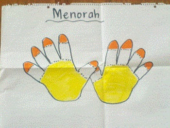 Hanukkah Handprint Menorah