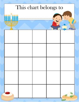 Hanukkah Incentive Chart