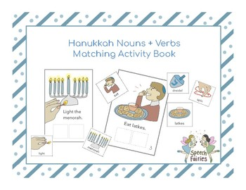 Hanukkah Interactive Notebook (Noun and Verb Practice)