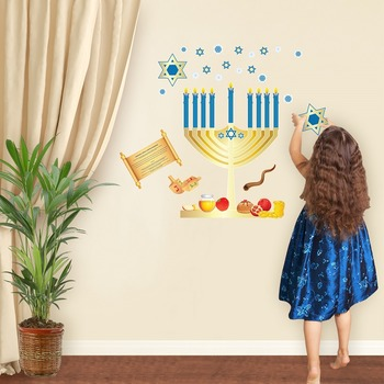 Hanukkah Interactive Wall Play Set + Downloadable Story Audio File