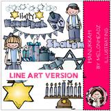 Melonheadz: Hanukkah clip art - LINE ART