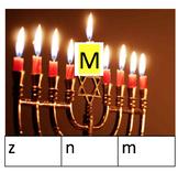 Hanukkah Letter Clip Cards