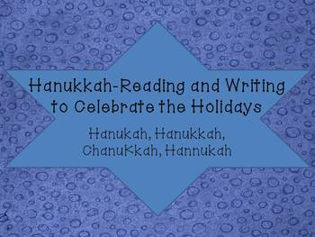 Hanukkah Literacy activities for your class!!