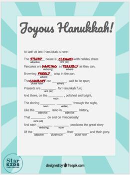 Hanukkah Mad Libs Collection *Google Slides and Printables