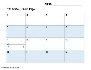 Hanukkah Math Activities - 4th Grade - Decimals