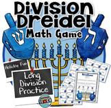 Hanukkah Math Game- Long Division- Hanukkah Dreidel Game & Activity
