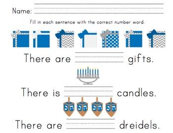 Hanukkah Math and Literacy Activities