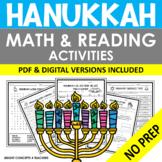 Hanukkah NO PREP Math and Reading Activities {Print & Digital}