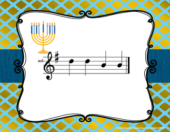 Hanukkah Melodies - Interactive Reading Practice Game {sol mi}