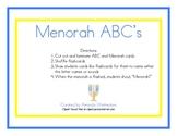 Hanukkah Menorah Alphabet Game