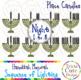 Hanukkah Menorah Candles Sequence of Lighting Clip Art