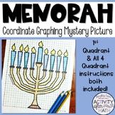 Hanukkah Math Menorah Coordinate Graphing Picture