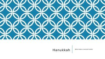 Hanukkah Menorah PowerPoint and Activity