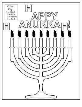 Hanukkah Menorah coloring page