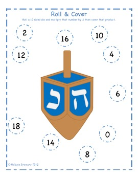Hanukkah Multiplication Roll and Cover