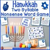 Hanukkah Two Syllable Nonsense Word Game