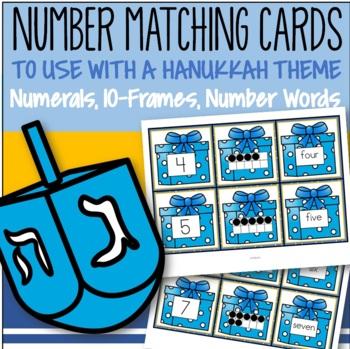 Hanukkah Number Matching Cards 0-10 FREE