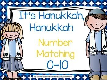 Hanukkah Number Matching Cards