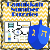 Hanukkah Number puzzles - number recognition and counting