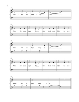 Hanukkah O Hanukkah Easy Piano