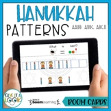 Hanukkah Math Patterns Activity - Adapted for Autism (AABB, ABBC, ABCD)