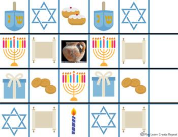 Hanukkah Patterns Math Center Morning Work