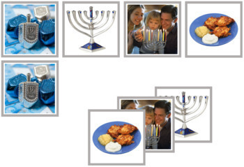 Hanukkah Matching Cards