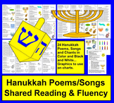 Hanukkah Activities: Poems / Songs / and Chants-Shared Reading & Fluency
