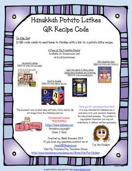 Hanukkah Potato Latkes QR Recipe Code