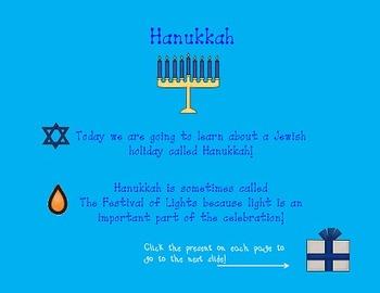 Hanukkah Powerpoint for kindergarten, first, or second grade