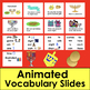 Hanukkah PowerPoint Presentation - 3 Levels + Animated Vocabulary