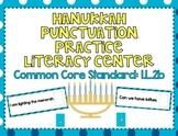 Hanukkah Punctuation Practice Literacy Center