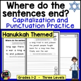 Hanukkah Writing, Punctuation, and Capitalization; Where do the sentences end?
