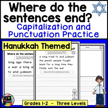 Hanukkah Punctuation and Capitalization; Where do the sent