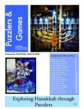 Hanukkah Puzzlers!  7 Literacy and Math Puzzles for 3rd - 5th Grade
