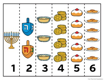 Hanukkah Puzzles and Color by Letter Center Activities - No Prep