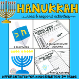 Hanukkah: Reading Comprehension, Writing and Craftivities