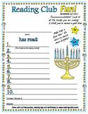 Hanukkah Reading Log and Certificate Set