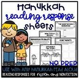 Hanukkah Reading Response Sheets