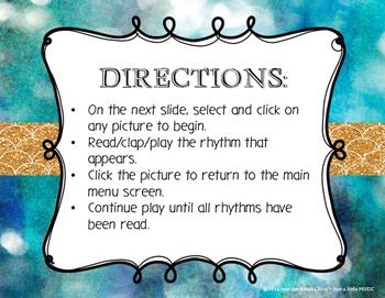 Hanukkah Rhythms - Interactive Reading Practice Game {ta titi}