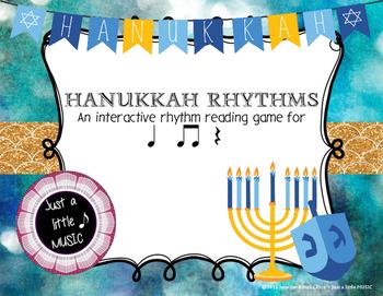 Hanukkah Rhythms - Interactive Reading Practice Game {ta t