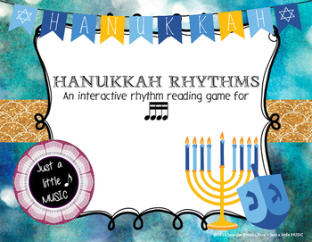 Hanukkah Rhythms - Interactive Reading Practice Game {tika tika}
