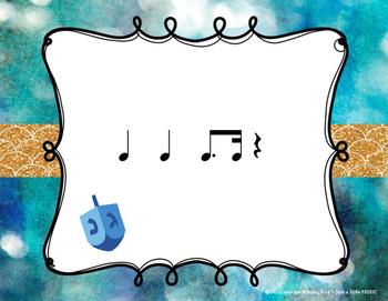 Hanukkah Rhythms - Interactive Reading Practice Game {tim ka}