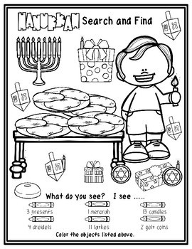 Hanukkah Search and Find