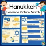 Hanukkah Sentence Picture Match Reading Center
