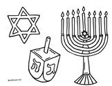 Hanukkah Coloring Sheet {MrsBrown.Art}