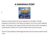 Hanukkah Short Nonfiction Printable Story with Comprehension Questions