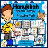 Hanukkah Speech Therapy Differentiated Printable Pack