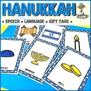 Hanukkah Speech and Language - Speech Therapy Resource