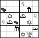 Hanukkah Sudoku puzzles, holiday fun with problem solving math skills